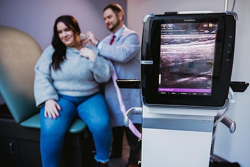 Ultrasound investigation of headache